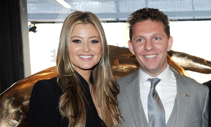 Nick Candy with his wife, Holly Valance.