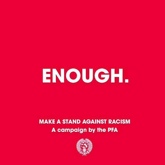 #Enough: PFA calls for action after anti-racism campaign saw players abused again