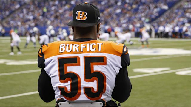 The Bengals' Vontaze Burfict began the game against the Steelers by kicking a player in the face.