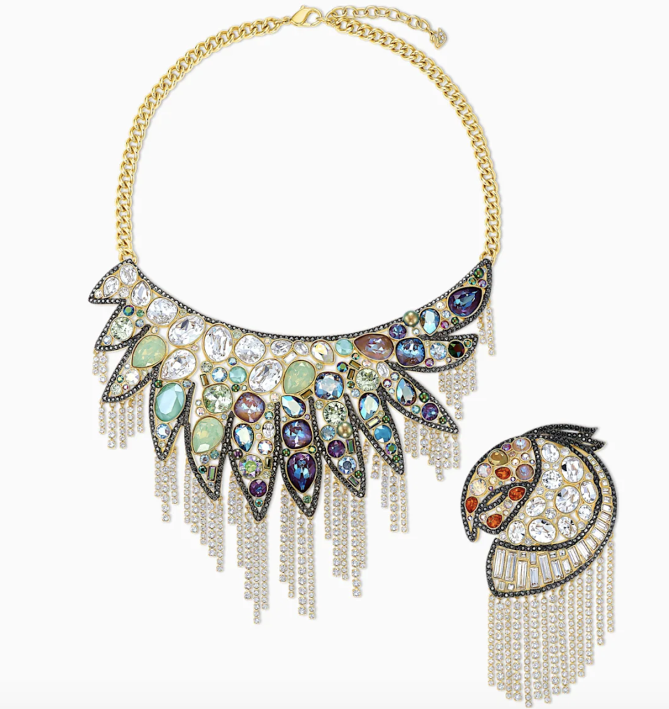 PHOTO: Swarovski. Shimmering Set, Dark Multi-Coloured, Mixed Metal Finish
