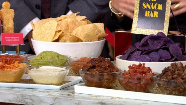 PHOTO: Chef and author Mary Giuliani created a chips and dips station for an Oscar viewing party. (ABC News)