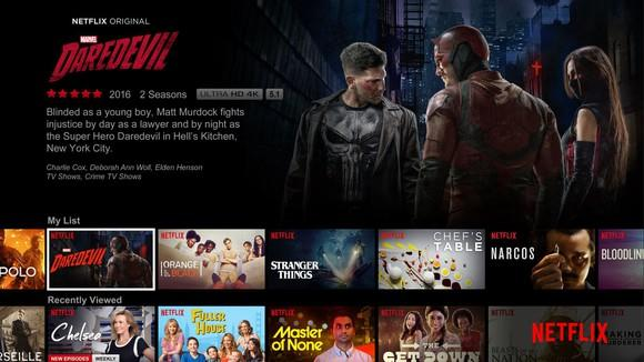 A Netflix content screen for the Daredevil show.