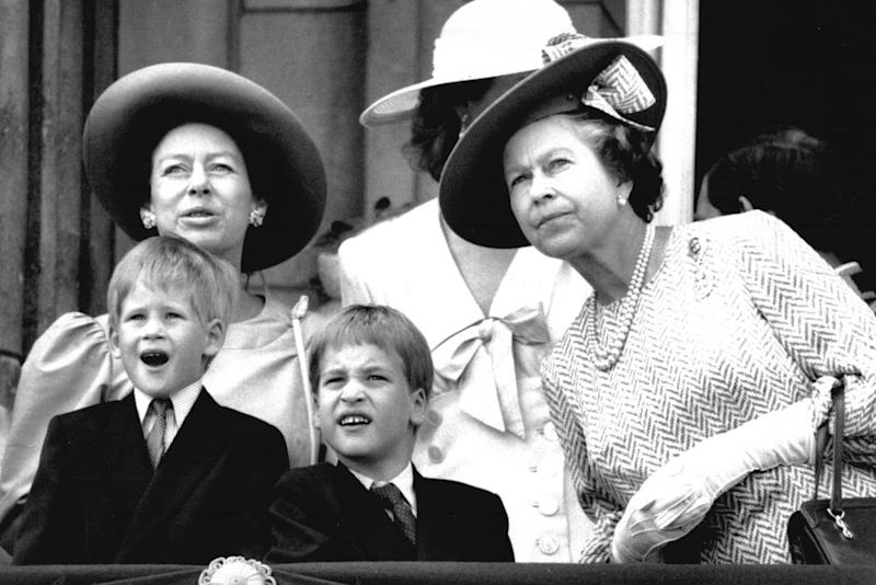 Princess Margaret, Prince Harry, Prince William and Queen Elizabeth | Parnell/ANL/REX/Shutterstock