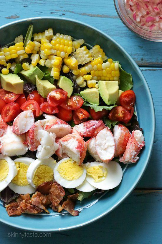 """<p>The upgrade this classic salad has been looking for. </p><p>Get the recipe from <a href=""""https://www.skinnytaste.com/lobster-cobb-salad/"""" rel=""""nofollow noopener"""" target=""""_blank"""" data-ylk=""""slk:Skinny Taste"""" class=""""link rapid-noclick-resp"""">Skinny Taste</a>.</p>"""