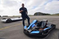 Saietta startup tests an electric vehicle platform using prototype axial flux electric motors, in Upper Heyford