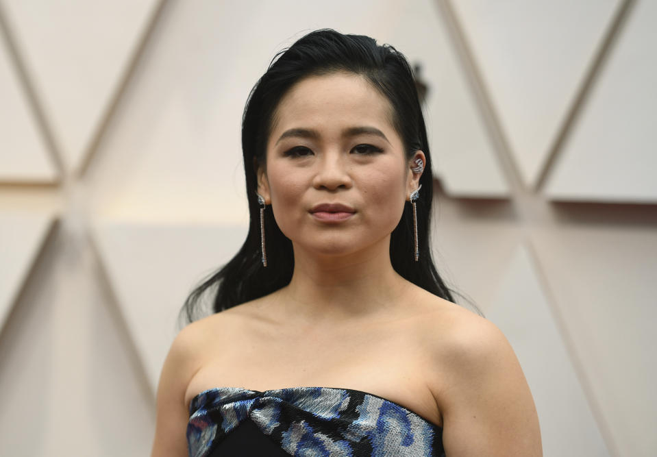 Kelly Marie Tran arrives at the Oscars on Sunday, Feb. 9, 2020, at the Dolby Theatre in Los Angeles. (Photo by Richard Shotwell/Invision/AP)