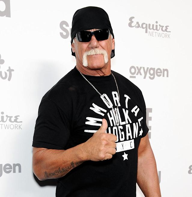 Hulk Hogan attends the 2015 NBCUniversal Cable Entertainment Upfront at the Jacob K. Javits Convention Center on May 14, 2015, in New York City. (Photo: D Dipasupil/FilmMagic)