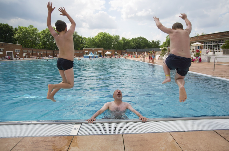 Gallons of urine are in public swimming pools, study finds