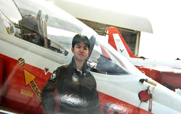 Clement was in Australia for pilot training but returned before he completed it. (Leong Poh Yin photo)