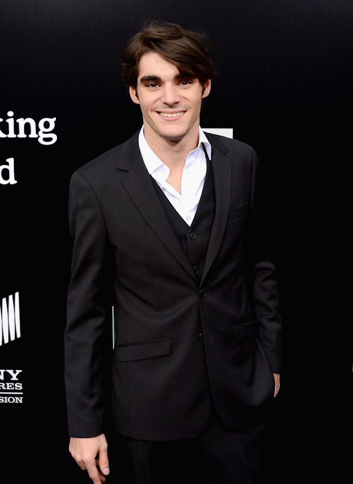 """CULVER CITY, CA - JULY 24: Actor RJ Mitte arrives as AMC Celebrates the final episodes of """"Breaking Bad"""" at Sony Pictures Studios on July 24, 2013 in Culver City, California. (Photo by Mark Davis/Getty Images)"""