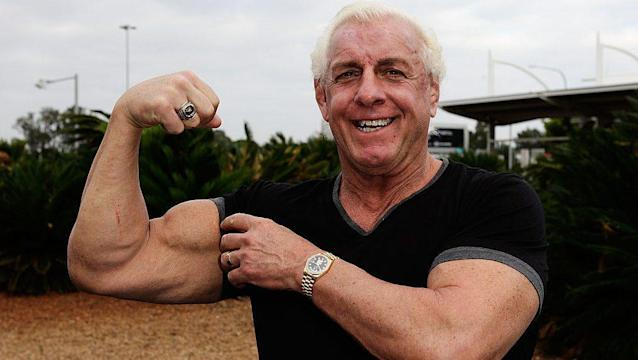 """WWE Hall of Famer Ric Flair will call """"Play Ball!"""" on a special video message before ALCS Game 7 in Houston. (AP)"""