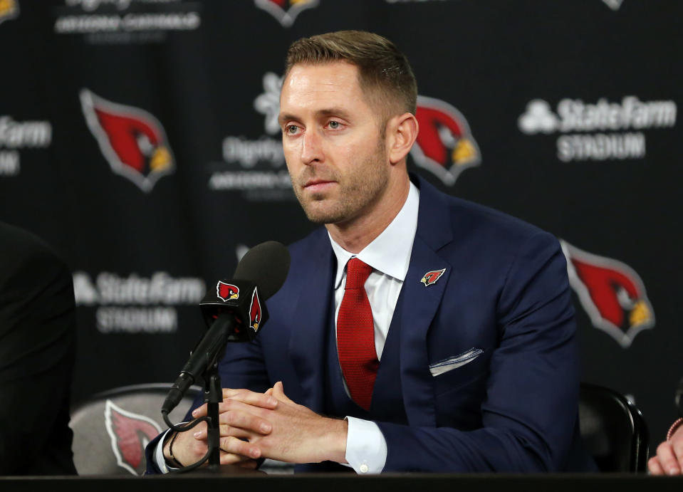 New Cardinals head coach Kliff Kingsbury spoke highly of Kyler Murray when they were both in the Big 12. (AP Photo/Rick Scuteri)