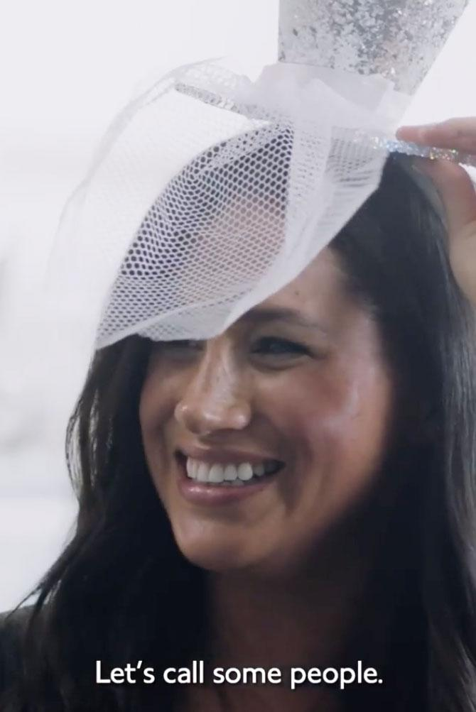 Meghan Markle wears a silly hat in a never-before-seen Vogue video