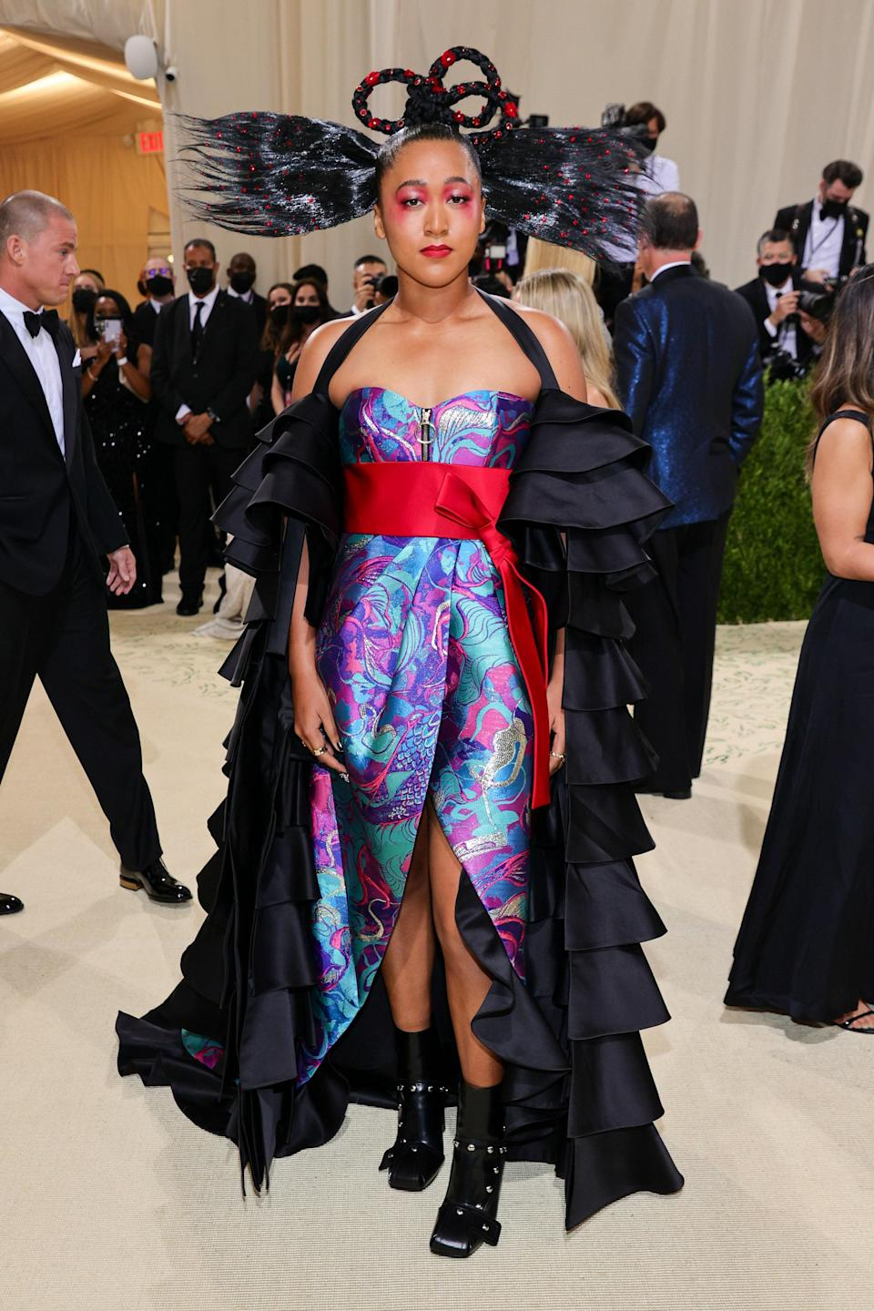 """<h1 class=""""title"""">Naomi Osaka, The 2021 Met Gala Celebrating In America: A Lexicon Of Fashion - Arrivals</h1><cite class=""""credit"""">Getty</cite>"""