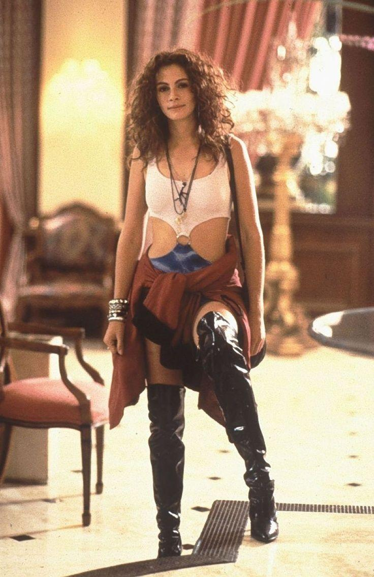 <p>In the role that would earn her an Oscar nomination, Julia Roberts played prostitute Vivian in <em>Pretty Woman</em>. While her fashion transformation in the film is forever memorable, her thigh-high black leather boots became one of the most iconic accessories of all time. </p>