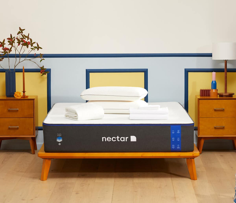 """<p><strong>Nectar</strong></p><p>nectarsleep.com</p><p><strong>$799.00</strong></p><p><a href=""""https://go.redirectingat.com?id=74968X1596630&url=https%3A%2F%2Fwww.nectarsleep.com%2Fmattress&sref=https%3A%2F%2Fwww.prevention.com%2Fhealth%2Fsleep-energy%2Fg37884400%2Fbest-mattresses-for-back-pain%2F"""" rel=""""nofollow noopener"""" target=""""_blank"""" data-ylk=""""slk:Shop Now"""" class=""""link rapid-noclick-resp"""">Shop Now</a></p><p><em>365-night trial 