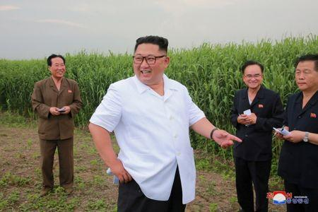 FILE PHOTO: North Korea leader Kim Jong Un visits Sindo County, North Phyongan Province in this undated photo released by North Korea's Korean Central News Agency (KCNA) June 30, 2018. KCNA/via Reuters