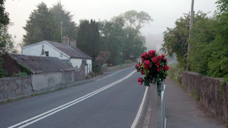 """This image released by the Tribeca Film Festival shows a scene from the Alex Gibney film, """"No Stone Unturned."""" Producers of Alex Gibney's """"No Stone Unturned"""" have pulled the documentary about the 1994 murder of six men in Northern Ireland from the Tribeca Film Festival over legal issues. The film was to premiere April 23 at the festival. (Stan Harlow/Tribeca Film Festival via AP)"""