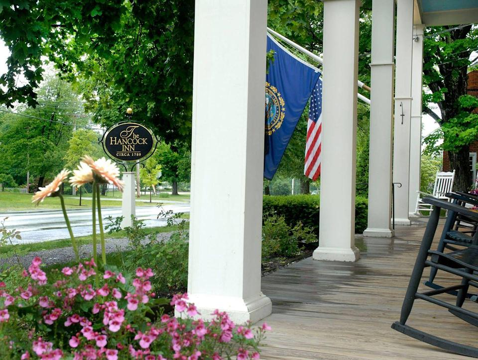 """<p>Founded in 1789, this <a href=""""https://www.tripadvisor.com/Hotel_Review-g46113-d114180-Reviews-Hancock_Inn-Hancock_New_Hampshire.html"""" rel=""""nofollow noopener"""" target=""""_blank"""" data-ylk=""""slk:bed and breakfast"""" class=""""link rapid-noclick-resp"""">bed and breakfast</a> was built in the Monadnock Region along a trade route between Vermont and Boston, making it a popular stopping point for travelers. The Hancock landmark still offers quaint accommodations and meals at Fox Tavern. Stop in for Shaker Cranberry Pot Roast or the Innkeepers' Supper on Sundays.</p>"""