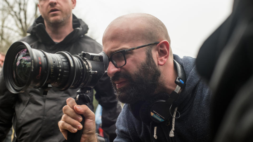 Antonio Campos on the set of Netflix thriller 'The Devil All the Time'. (Credit: Glen Wilson/Netflix)