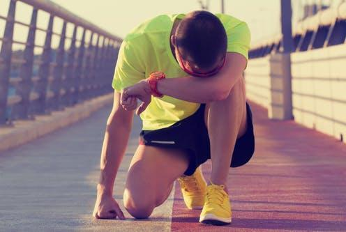 """<span class=""""caption"""">Endurance athletes are most at risk.</span> <span class=""""attribution""""><a class=""""link rapid-noclick-resp"""" href=""""https://www.shutterstock.com/image-photo/tired-urban-jogger-making-pause-after-300224132"""" rel=""""nofollow noopener"""" target=""""_blank"""" data-ylk=""""slk:AstroStar/ Shutterstock"""">AstroStar/ Shutterstock</a></span>"""