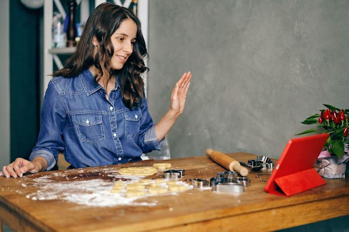 """<p>If your mom is more of a baker than a chef, sign her up for a virtual baking class on or around Mother's Day. You can either join in on the fun, or give mom the space for her to zen out and enjoy some baking """"me time."""" You search for online baking classes at <a href=""""https://www.cozymeal.com/online-cooking-classes/baking"""" rel=""""nofollow noopener"""" target=""""_blank"""" data-ylk=""""slk:CozyMeal"""" class=""""link rapid-noclick-resp"""">CozyMeal</a> or <a href=""""https://go.redirectingat.com?id=74968X1596630&url=https%3A%2F%2Fwww.masterclass.com%2Fcategories%2Fculinary-arts&sref=https%3A%2F%2Fwww.womansday.com%2Flife%2Fg35938299%2Fquarantine-mothers-day-ideas%2F"""" rel=""""nofollow noopener"""" target=""""_blank"""" data-ylk=""""slk:MasterClass"""" class=""""link rapid-noclick-resp"""">MasterClass</a>, or order Mom a baking subscription box from <a href=""""https://go.redirectingat.com?id=74968X1596630&url=https%3A%2F%2Fwww.cratejoy.com%2Fsubscription-box%2Fwhisk-takers%2F&sref=https%3A%2F%2Fwww.womansday.com%2Flife%2Fg35938299%2Fquarantine-mothers-day-ideas%2F"""" rel=""""nofollow noopener"""" target=""""_blank"""" data-ylk=""""slk:Whisk Takers"""" class=""""link rapid-noclick-resp"""">Whisk Takers</a>. </p>"""
