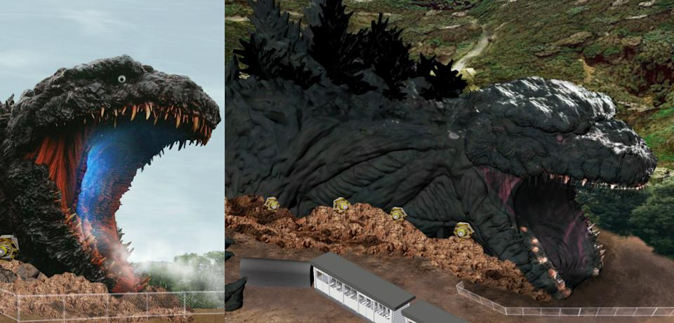 The anime theme park, Nijigen no Mori on Awaji Island, Hyogu Prefecture in Japan is opening a life-sized Godzilla attraction with a length of 120 metres in summer 2020.