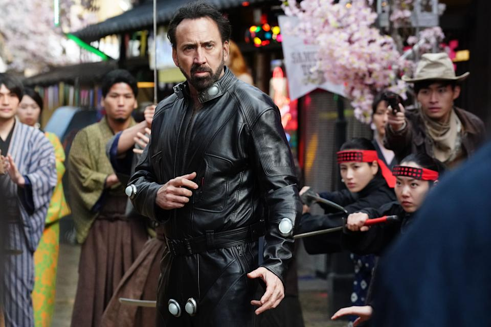 Nicolas Cage in Prisoners Of The Ghostland. (Photo: Shaw Organisation)