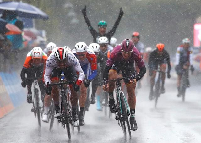 Germany's Pascal Ackermann added a second stage win in this year's Giro d'Italia with victory on a rain-hit day five (AFP Photo/Luk BENIES)