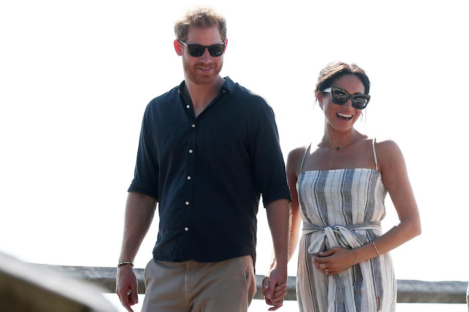 <p>Harry and Meghan's royal tour of Australia got off to an exciting start, as the pair announced they're expecting their first child in spring 2019 [Photo: Getty] </p>