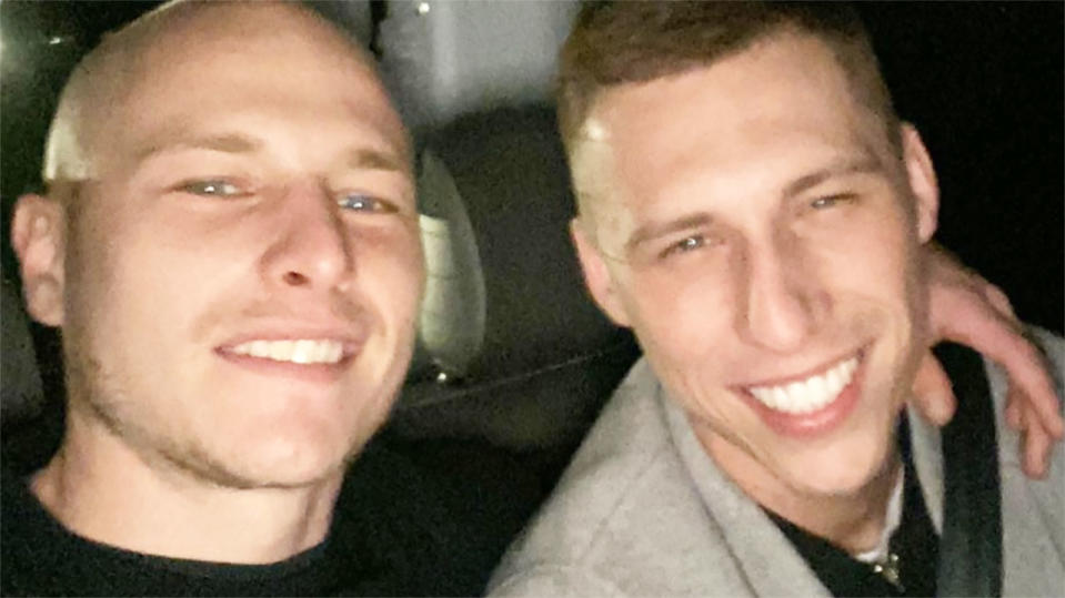 Aaron Mooy, pictured here with brother Alex.