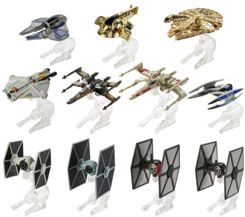 <p>Hot Wheels has come out with a line of the most iconic 'Star Wars' starships. They come with a special trademarked Flight Navigator that can send your ship flying across a room. (It also doubles as a display stand.)</p>