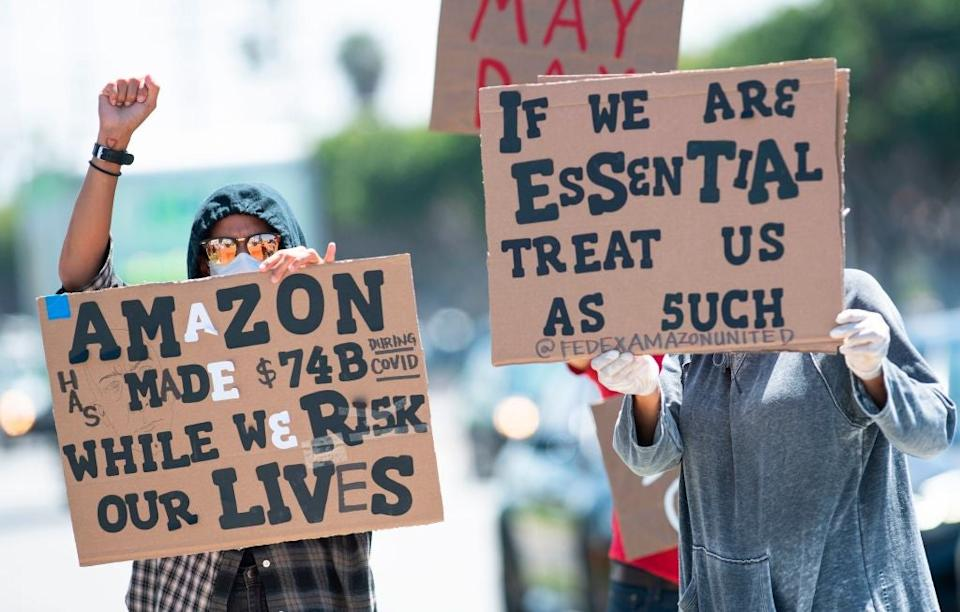 Amazon has faced criticism during the Covid-19 pandemicAFP via Getty Images
