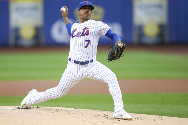 New York Mets starting pitcher Marcus Stroman delivers against the Arizona Diamondbacks during the first inning of a baseball game, Thursday, Sept. 12, 2019, in New York. (AP Photo/Mary Altaffer)