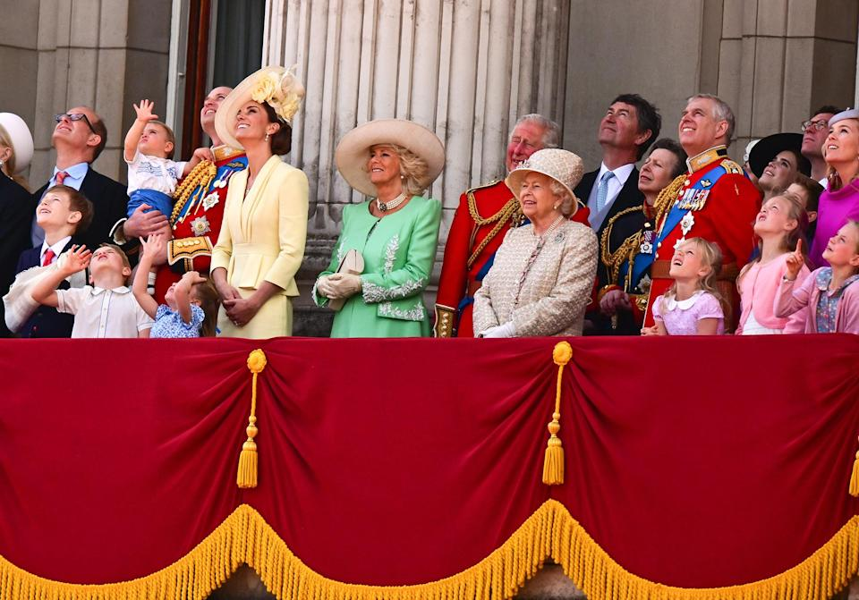 <p>Queen Elizabeth's birthday is so special that it's celebrated twice a year: privately in April (her real birthday) and once in June with public festivities known as Trooping the Colour. The royal family enjoys a military parade, takes a horse-drawn carriage ride and gathers on the Buckingham Palace balcony to watch the flypast.</p>
