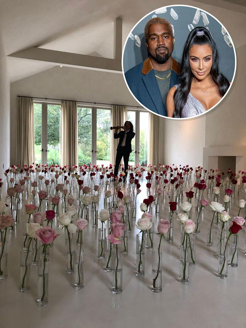 5025ffbb4cbaa Kanye West had Kenny G come over to play music for Kim Kardashian in a room  of roses. (Photo  Kim Kardashian Twitter Getty Images)
