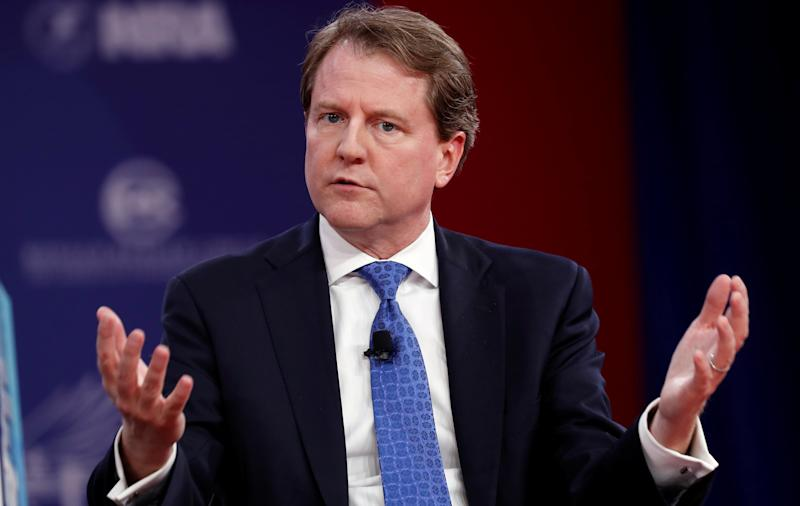 "President Donald Trump announced on Twitter that White House Counsel Don McGahn, who joined the administration in January 2017, would leave ""in the fall."" (Kevin Lamarque / Reuters)"