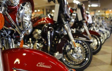 Various models of motorcycles are shown at Harley-Davidson of Frederick in Frederick Maryland, October 23, 2012. REUTERS/Gary Cameron