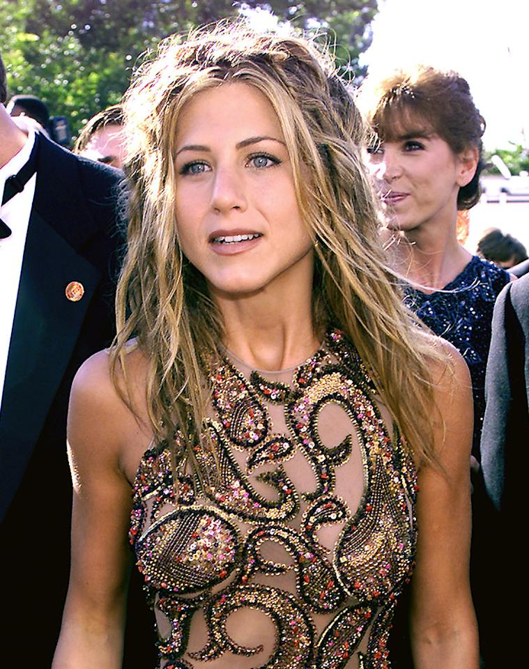 Jennifer Aniston of 'Friends' at the 1999 Emmy Awards held in Los Angeles, CA 9/13/99  Photo by Frank Micelotta/Getty Images