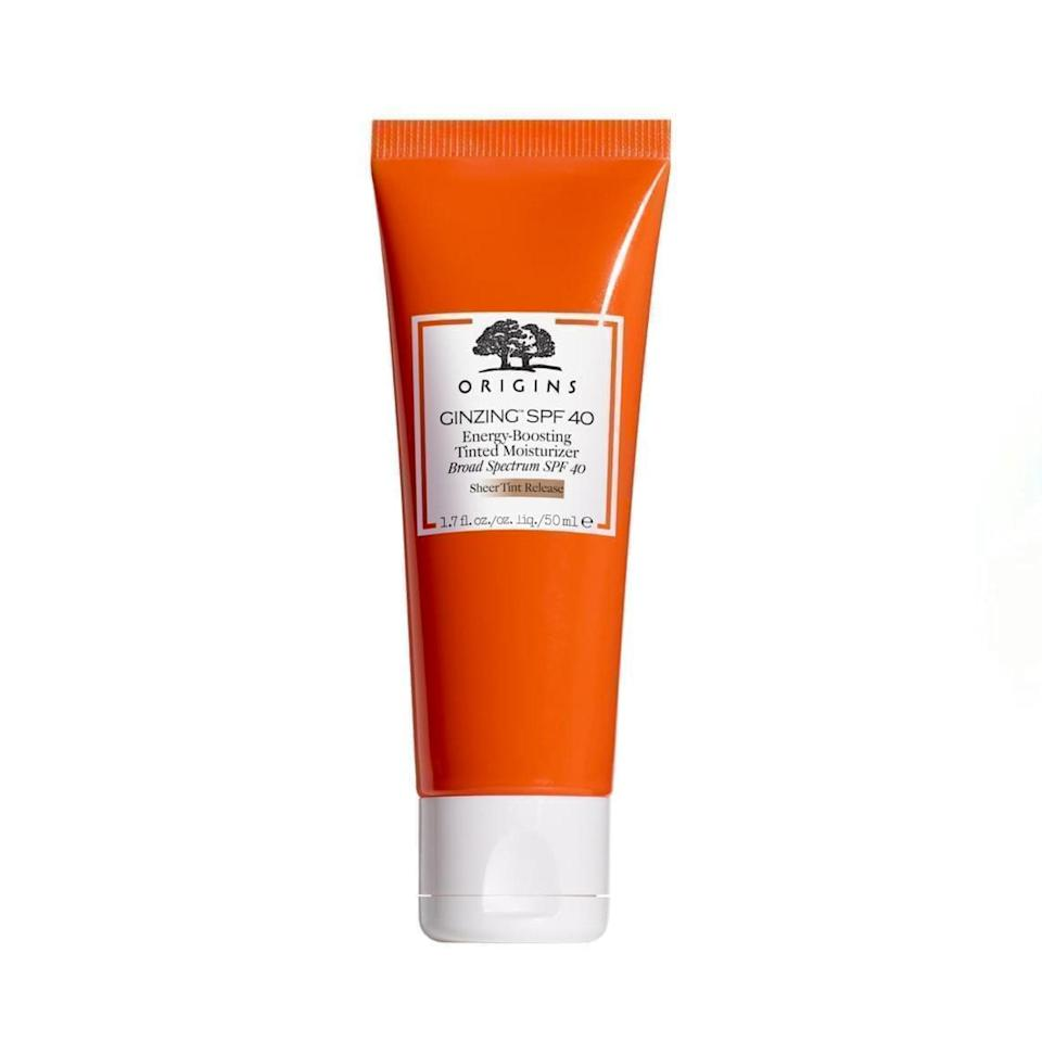 """Origins' tinted moisturizer is a great everyday workhorse thanks to the addition of SPF 40. It doesn't come in a ton of shades, but it just kind of blurs into your natural color, giving you a smooth, matte finish without looking like you're wearing makeup at all. —<em>Emma Wartzman, producer</em> $41, Origins. <a href=""""https://shop-links.co/1739243637734411341"""" rel=""""nofollow noopener"""" target=""""_blank"""" data-ylk=""""slk:Get it now!"""" class=""""link rapid-noclick-resp"""">Get it now!</a>"""
