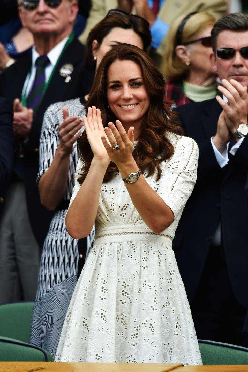 <p>It was also the perfect look for a tennis day at Wimbledon.</p>