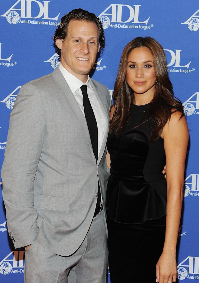 Producer Trevor Engelson and Meghan Markle in 2011. (Photo: Michael Kovac/WireImage)