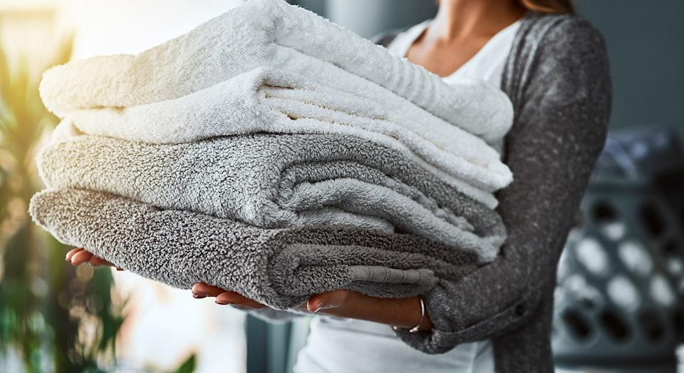 Give your laundry cupboard an update with John Lewis' popular cotton bath towels.  (Getty Images)