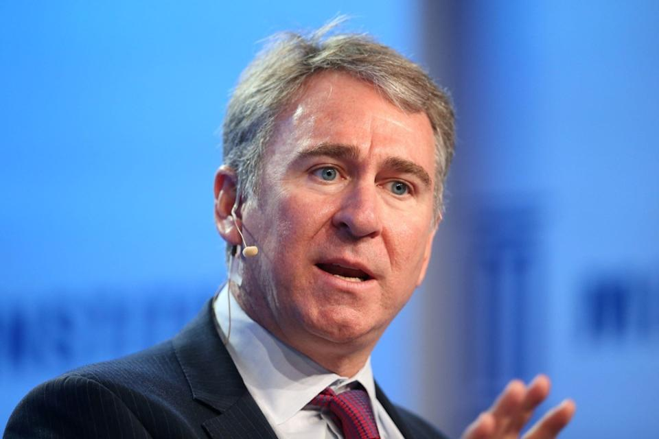 Ken Griffin, Founder and Chief Executive Officer of Citadel, speaks during the Milken Institute Global Conference in Beverly Hills, California, U.S., May 1, 2017.