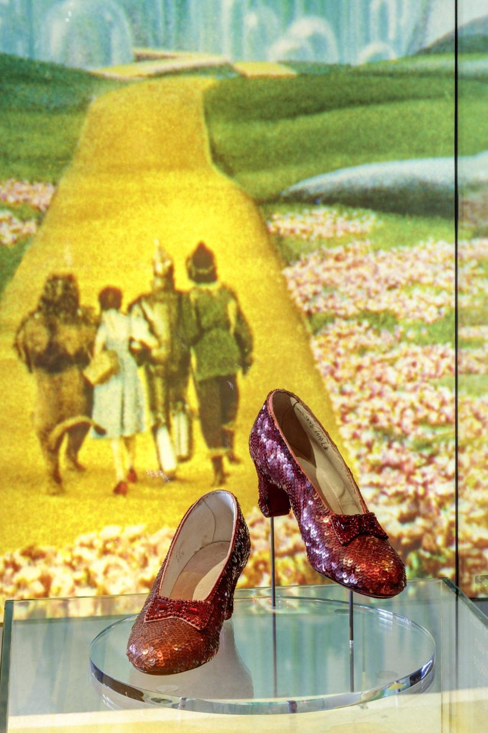 <p>Click your heels and you'll be in front of Dorothy Gale's famed ruby slippers.</p>