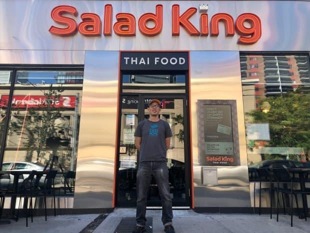 The kitchen at Thai restaurant Salad King is still slower than usual, despite a return to in-person classes,said managing director Alan Liu. (Angelina King/CBC - image credit)