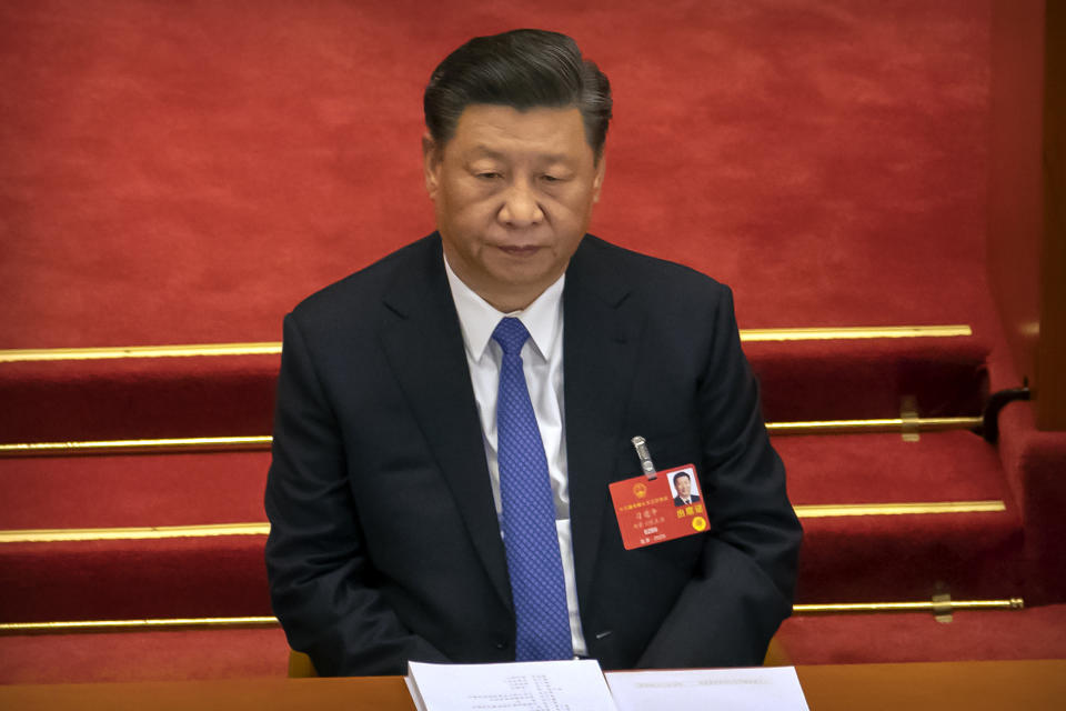 Pictured is China's leader Xi Jinping, who is keen on deflecting unwanted criticism of Beijing over the coronavirus.