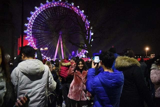 Thousands of people lined the Thames to watch the fireworks display (Kirsty O'Connor/PA)