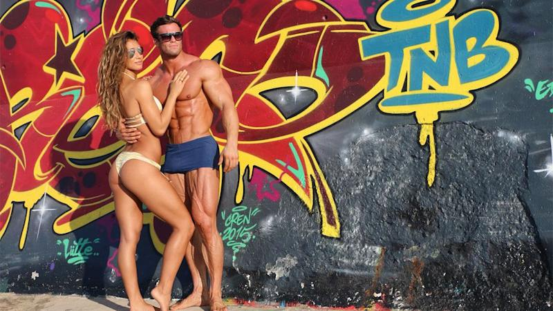 Calum von Moger and his girlfriend Karina. Photo: Calum von Moger
