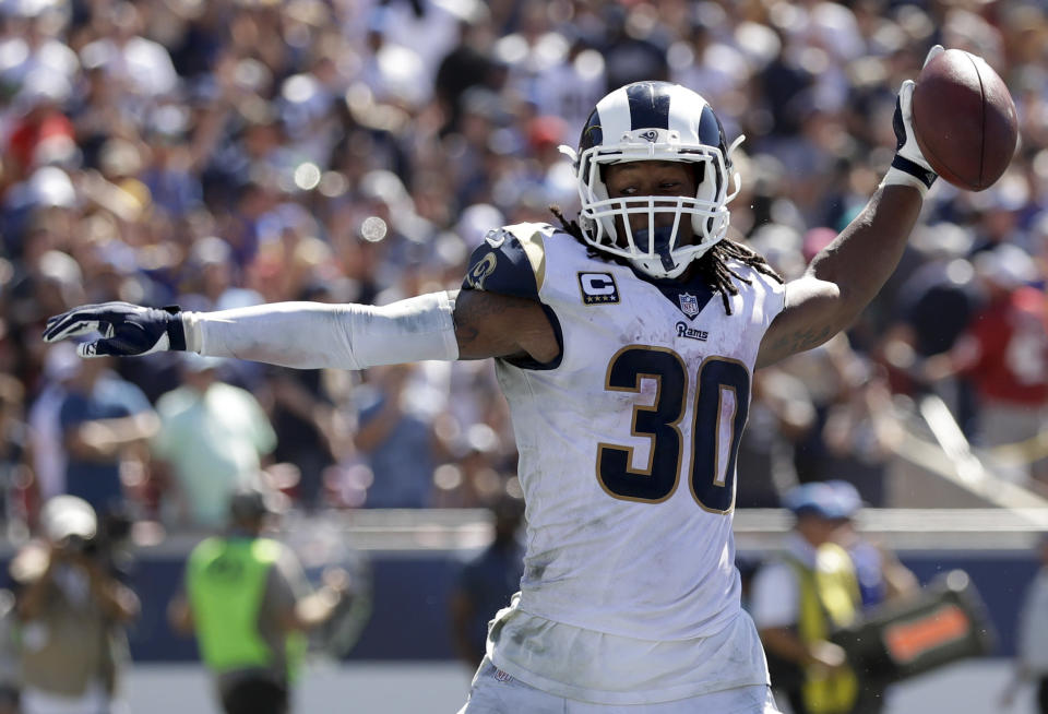 Todd Gurley and the Rams have been excellent through two games. (AP)